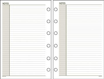Día Runner sin fecha agenda notas Recambio, 5,5 x 8,5 ...
