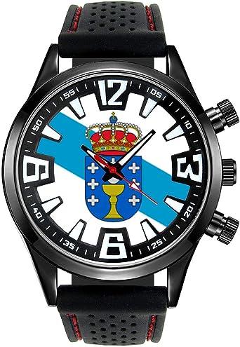 Timest - Bandera de Galicia España - Reloj para Hombre con Correa ...
