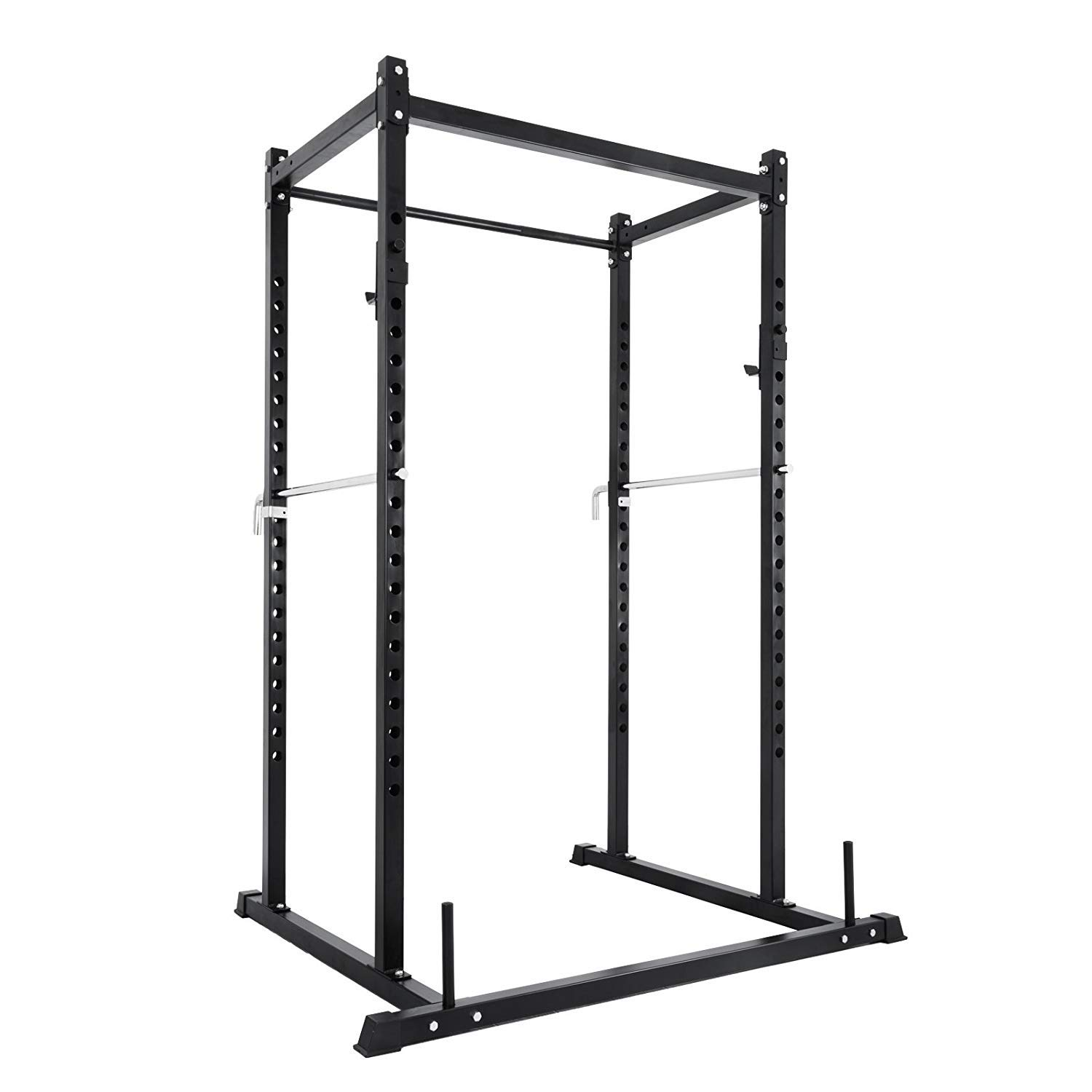 Popsport Deep Squat Rack Series Power Rack Squat Barbell Cage Bench Stand Heavy Duty Multi-Grip Chin-Up Fitness Power Rock for Home Gym (ZHPK-10)