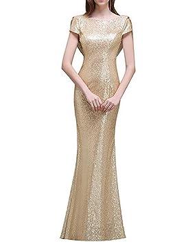 Vestido De Fiesta,luz de oro,XXL