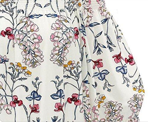 Blusas para mujer, Switchali Mujer nuevo verano floral Chaleco Moda Blusa Sin tirantes Casual algodón Camisa linda manga corta Camisas de mujer Tops Camiseta ropa Armada