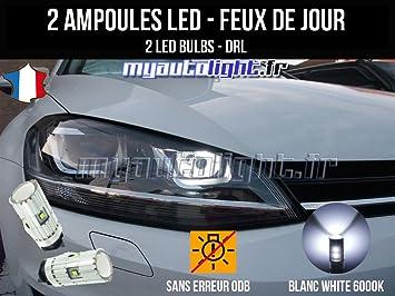 Pack luz de día LED Blanco Xenon para coche con faros Bi-Xénon: Amazon.es: Coche y moto