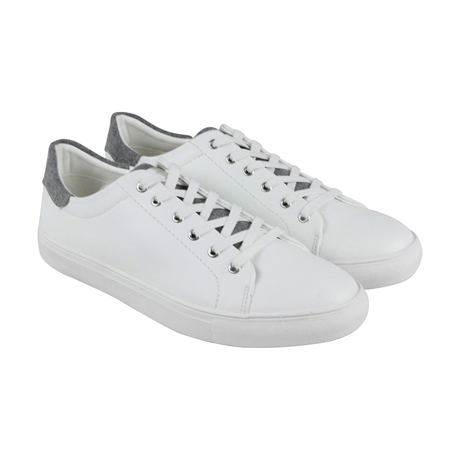 b472b3573d0 Steve Madden P-Bolstr Mens White Suede Lace Up Sneakers Shoes 9 ...