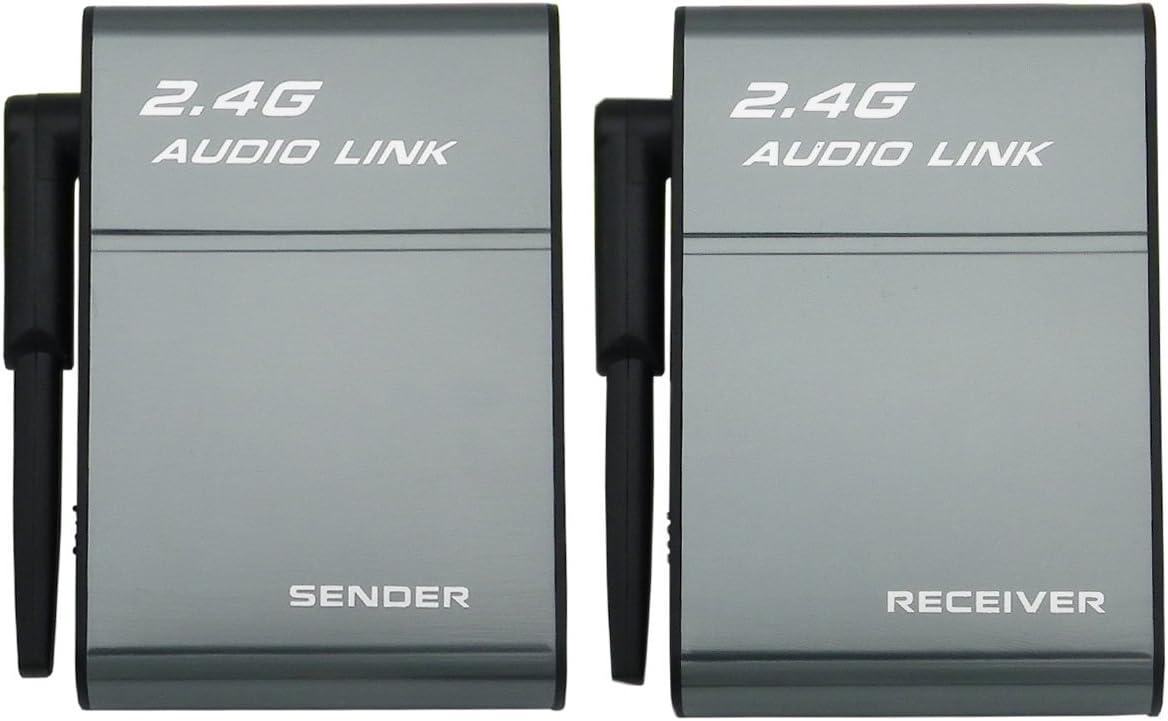 Transmisor de Audio inalámbrico 2.4G transmisor y Adaptador de Receptor para Sistema de Cine en casa de Alta fidelidad Amplificador de Altavoz