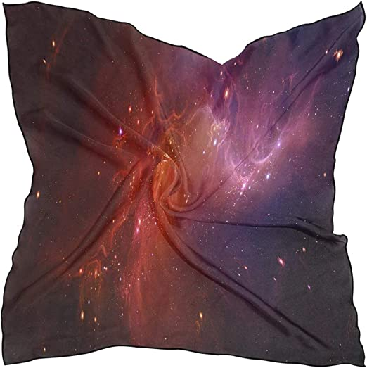 Square Scarf Galaxy Sun Planet Space Neck Head Unisex Headband Tie For Women