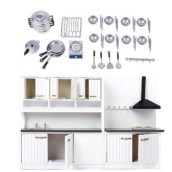 Amazon.es: KESOTO 1/12 Kit de Muebles de Cocina Miniatura ...