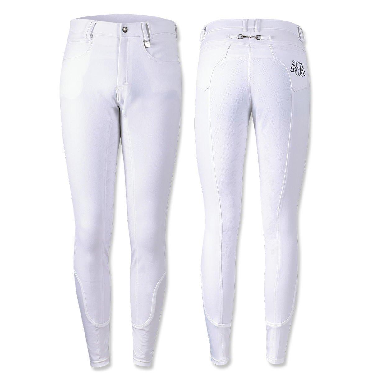 乗馬 キュロット ズボン パンツ EQULIBERTA シリコンライディングキュロット フルグリップ メンズ 乗馬用品 馬具 B07FXXCP54 Large ホワイト ホワイト Large