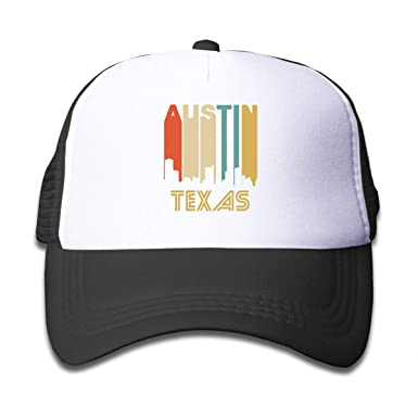 Amazon.com  Retro 1970 s Style Austin Texas Skyline On Kids Trucker ... abc6c983f41