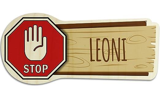 printplanet Cartel de Madera para Puerta con Nombre Leoni ...