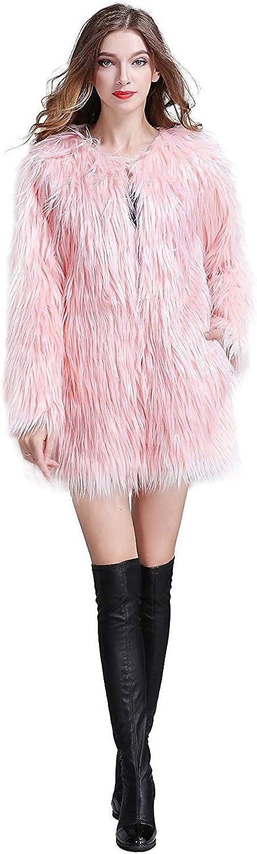 Erencook Womens Faux Fur Coat Jacket