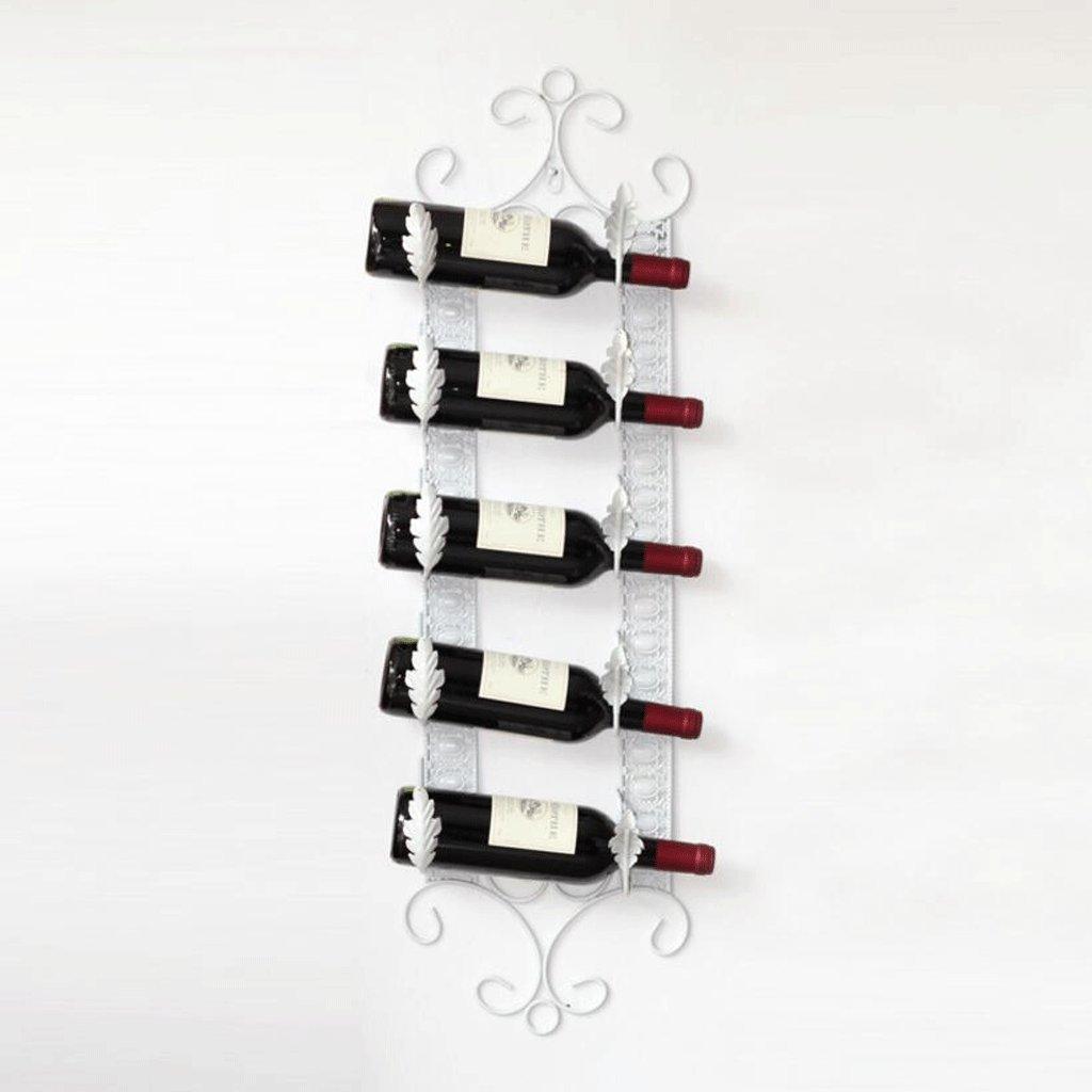 Cremagliera del vino YYF Portabottiglie da Parete Portabottiglie in Ferro battuto Decorazione Portabottiglie da Soggiorno Soggiorno Tavolo da Bar Decorazione Stile Europeo Creativo Colore : A