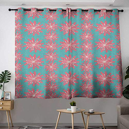 Zodel Sliding Door Curtains Outdoor Germinating Plants Wildflowers Twigs Sprouts Buds Lively Rustic Patio Print Grommet Curtains for Bedroom W 63