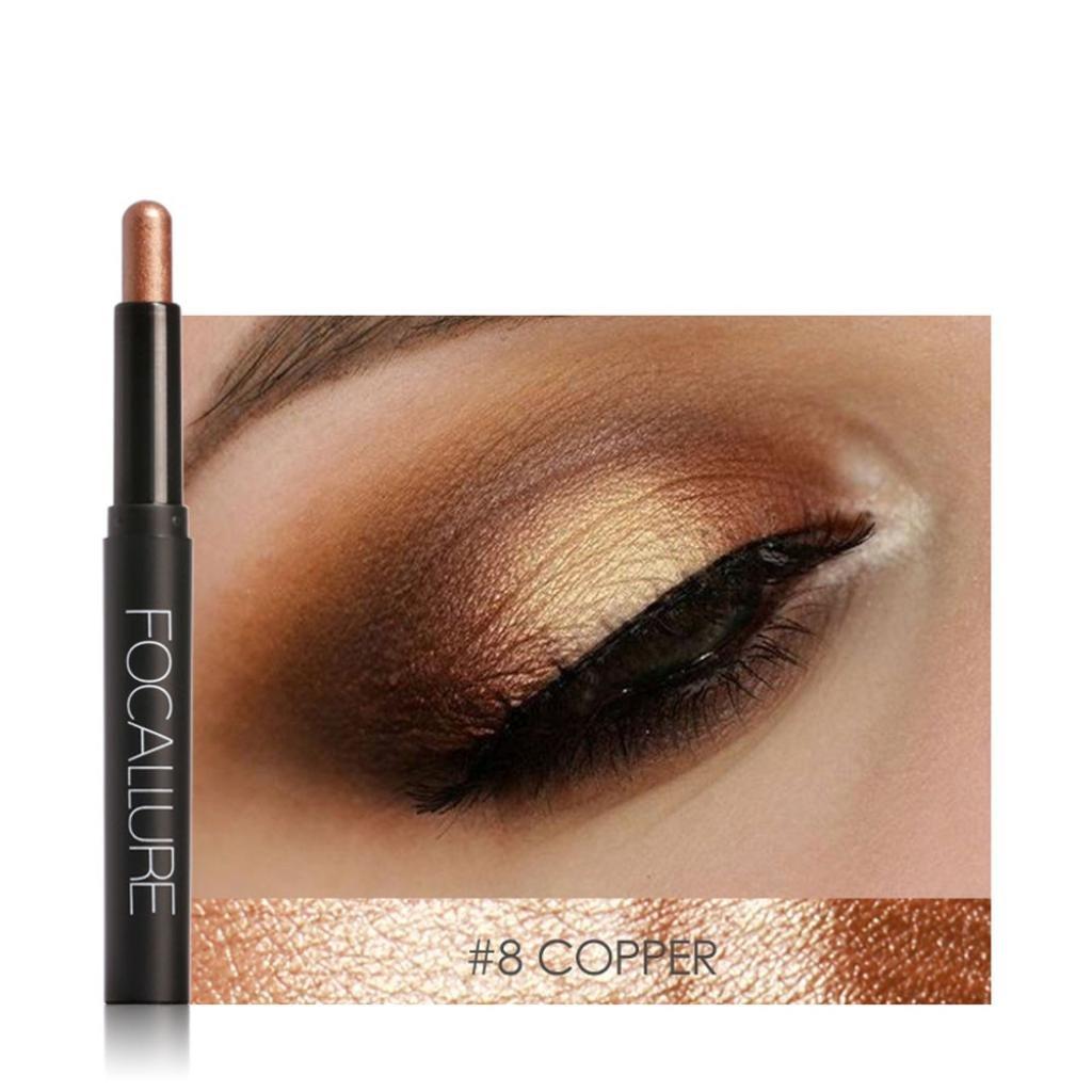 Snowfoller Beauty Pro Highlighter Eyeshadow Pencil Cosmetic Glitter Eye Shadow Pen (H)