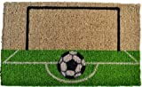 Imports Decor Printed Coir Doormat, Soccer Field, 18-Inch by 30-Inch