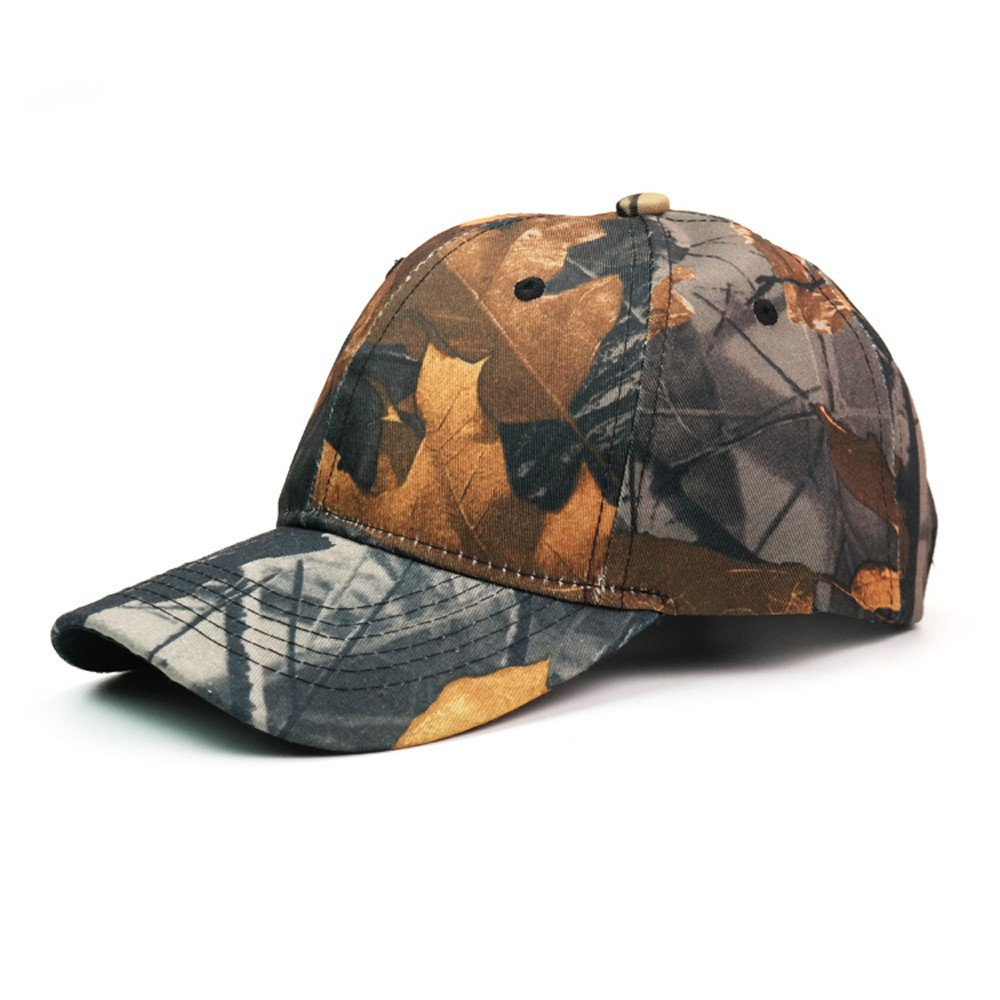 2019 New Unisex Mens Womens Baseball Camouflage Caps Sports Floral Leaves Printed Sun Adjustable Cotton Washed Hat (A)