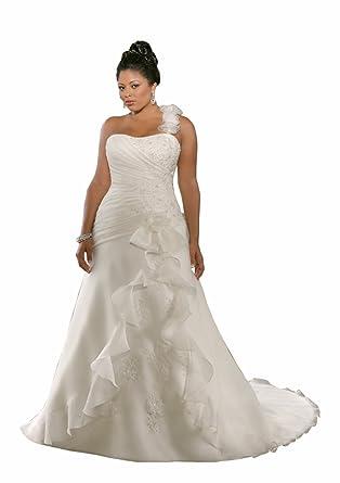 Wedding Family Womens Plus Size Sweetheart Pleat Wedding Dress At