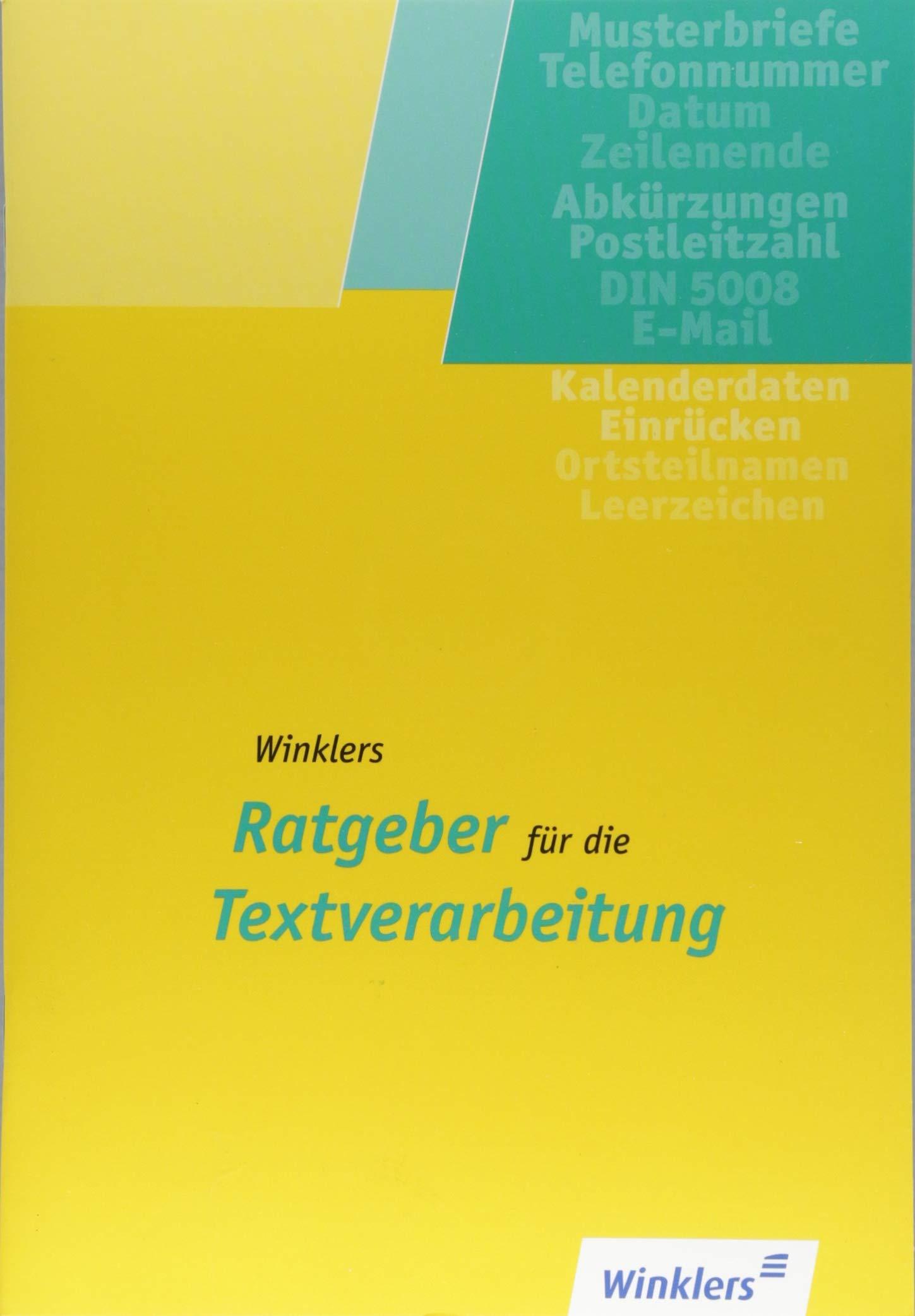 Winklers Ratgeber Für Die Textverarbeitung Schülerbuch Nach Din