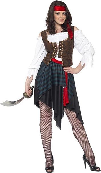 Señoras Pirata Look Sexy Disfraz Fancy Disfraz Caribe para Mujer ...