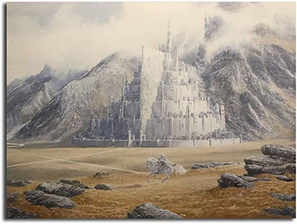 El señor de los anillos Gandalf cabalga a Minas Tirith por Alan Lee Art  Canvas Poster Painting Wall Picture Print Home Bedroom Decor HD-60x80cm Sin  marco: Amazon.es: Bricolaje y herramientas