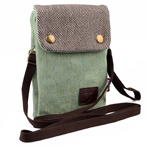 Dlames Canvas Small Cute Crossbody Cell Phone Purse Wallet Bag with Shoulder Strap for iPhone X iPhone 6 6s 7 Plus ,iPhone 8 Plus Samsung Galaxy S7 Edge S8 Edge (Fits with OtterBox Case )