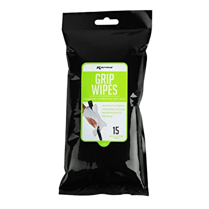 Amazon.com: Karma Golf Grip Cleaning Wipes 15 unidades ...