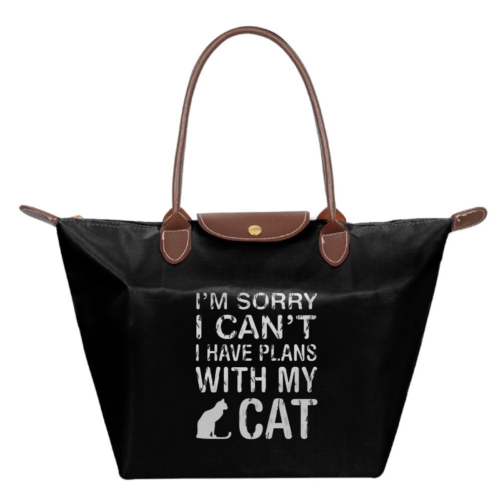 Adwelirhfwer Unisex Sorry I Cant.I Have Plans With My Cat Baby Bag Black