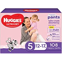 Huggies Ultra Dry Nappy Pants Girl Size 5 (12-17kg)