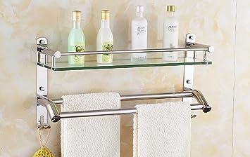 Badezimmer Regal Badezimmer-Regal-Glas-kosmetischer Standplatz ...