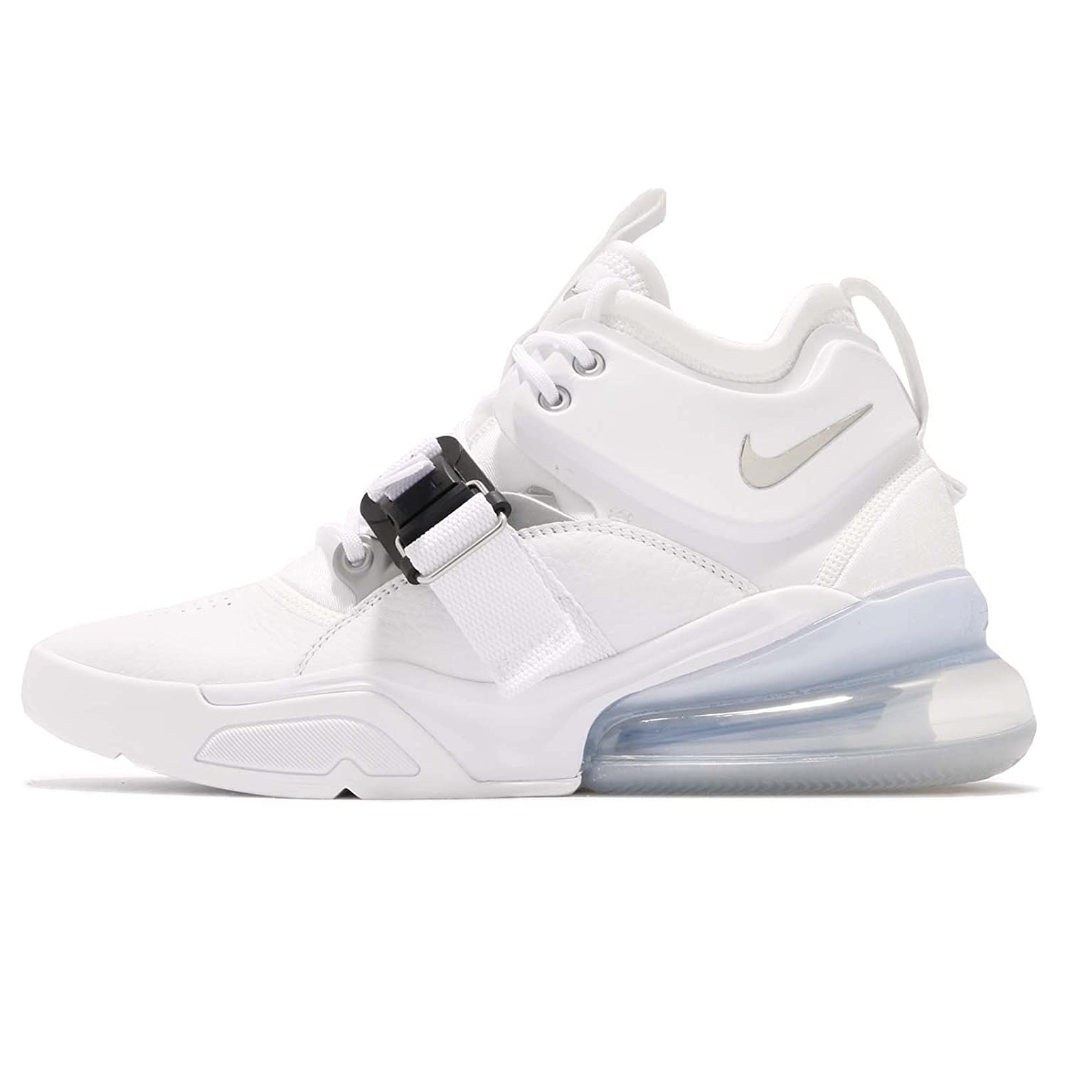 promo code 87473 5cade Amazon.com   Nike Air Force 270 Mens Ah6772-100 Size 14 White Metallic  Silver   Shoes