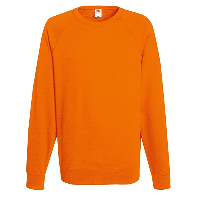Fruit of the Loom Mens Lightweight Raglan Sweatshirt (240 GSM) at Amazon Mens Clothing store: