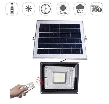 Schön ZYW Solar Fluter LED Solar Strahler Garten Außenbeleuchtung IP66  Wasserdicht , Mit Lichtsensor + Fernbedienung ,
