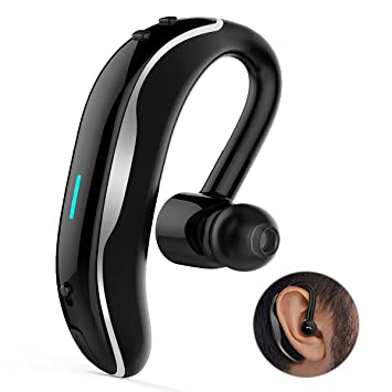 6f2645797d Bluetooth イヤホン HOTGO高音質 ワイヤレス ヘッドホン 2台同時接続 片耳 左右耳兼用 小型