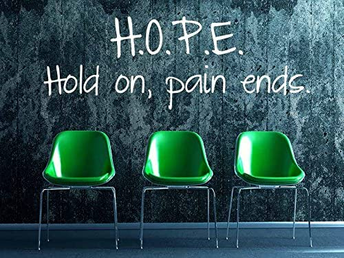 WandTattoo Hope – HOLD ON Pain Ends, marrón claro, 120x42cm ...
