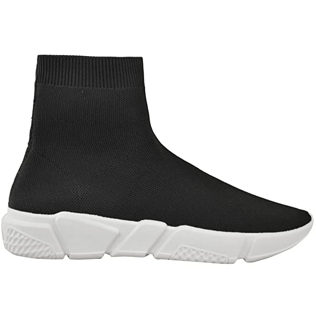 Amazon.com | Fashion Thirsty Womens Sneakers Elasticated Knitted Sock Ankle Boots Size | Ankle & Bootie