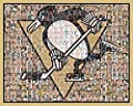 "NHL Pittsburgh Penguins Mosaic Print Art Designed Using the Greatest Past and Present Penguins Players of All Time. 8x10"" Matted Print."