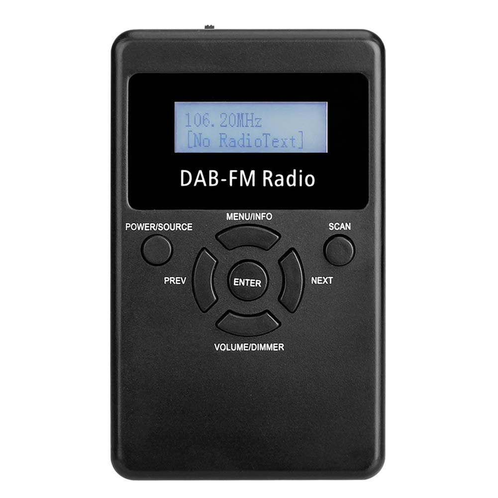 dezirZJjx DAB FM Radio, Portable Digital Radios Digital Pocket DAB Stereo Without Loss Receiver with Drawstring Earphone