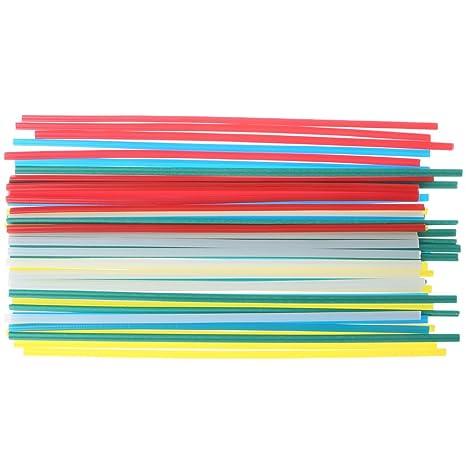 JunYe 50 Varillas de Soldadura de plástico de 5 Colores con Resistencia a la corrosión