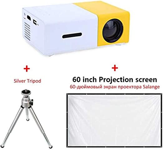 BABIFIS YG300 Mini Proyector 600 Lumen 3.5mm Audio 320x240 Píxeles ...