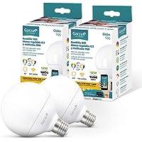 Garza ® Smarthome - 2 Bombilla LED Globo G95 Intelegente Wifi E27, luz blanca neutra regulable con cambio de intensidad…