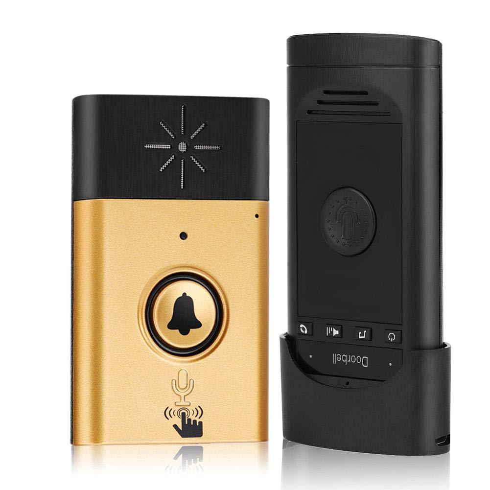 Wireless Voice Intercom Doorbells Two-Way Talk Home Doorbell Intercom Kit LED Indoor Outdoor Interphone System Home Security System(Silver) Sonew