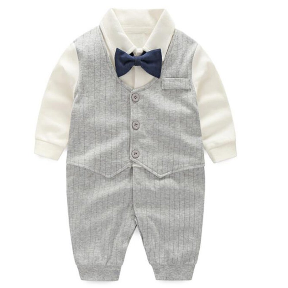 Fairy Baby Baby Boy's One Piece Long Sleeve Gentleman Formal Outfit S080-01