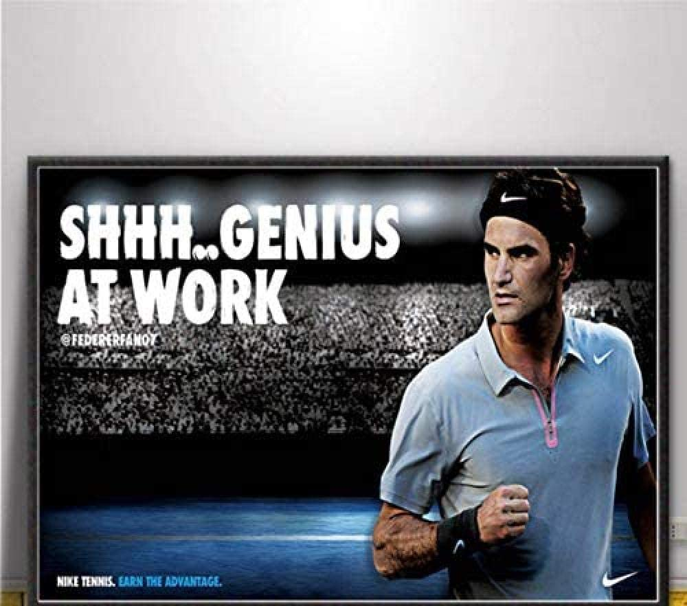 KELDOG® Rompecabezas Rompecabezas de Madera Rompecabezas Federer Tennis Sport Player Star, 1000 Piezas Desafiante Juego de Juguetes creativos de Bricolaje, Color Art Rompecabezas clásicos