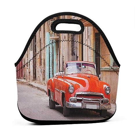 f20db5ca0be7 Amazon.com: Convenient Lunch Box Tote Bag Cars, Classical American ...