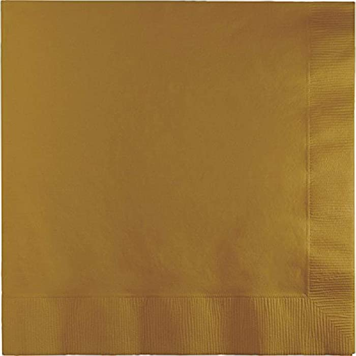 Top 9 Glittering Gold 2Ply Beverage Napkin