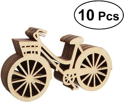 Amosfun 10 UNIDS Bicicletas de Madera Bicicleta Recorte Chapas ...