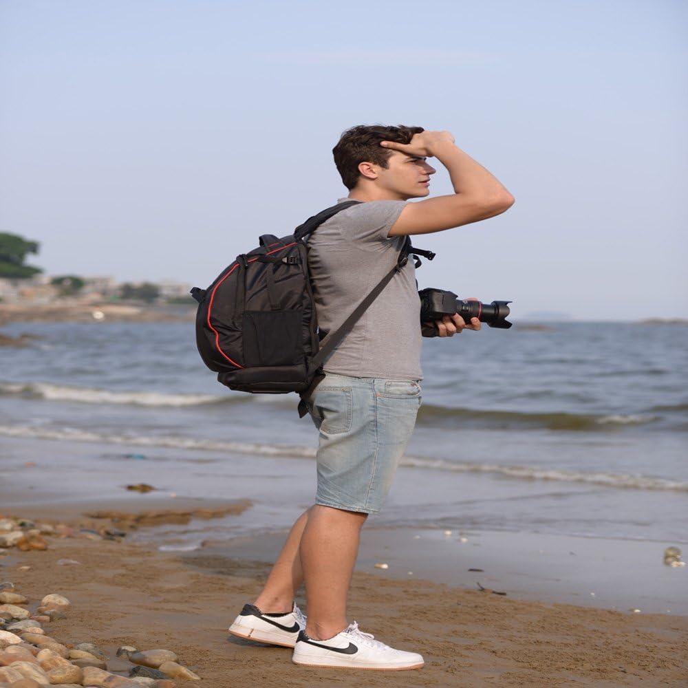 Large Capacity Professional SLR Camera Backpack,Black