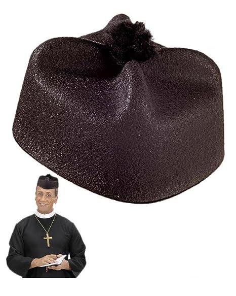 WIDMANN Cappello da Parroco Accessorio per Costume di Carnevale Prete  19992 b83fc5e9c68e