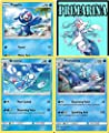Pokémon - Primarina Brionne Popplio Sun & Moon Evolution Line Set Lot - Rare - Plus Bonus Onlince Code Card