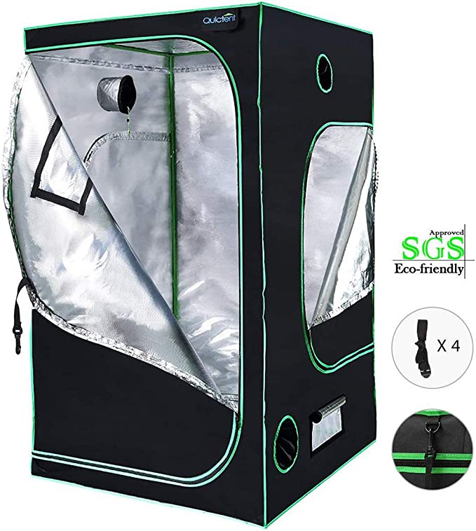 Quictent SGS Approved Eco-Friendly Reflective Mylar Hydroponic Grow Tent - Comes With a Safety Guarantee