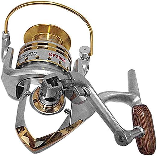 DONG Fishing Reel Spinning Reel Relación de Engranajes de 5,5: 1 + ...